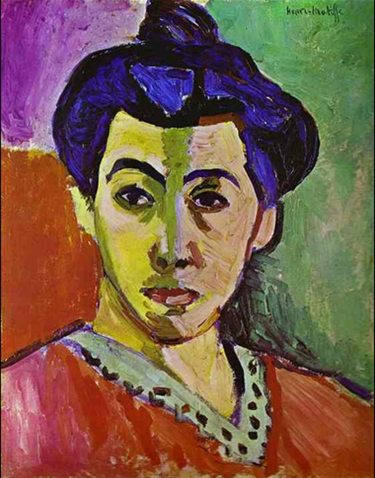 Henri Matisse       Portrait of Madame Matisse   (Green Stripe)