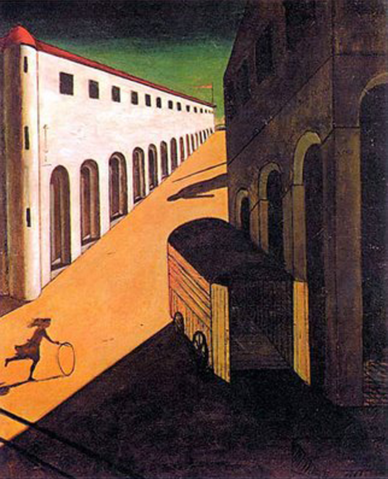 Giorgio de Chirico      Mystery and Melancholy of a Street