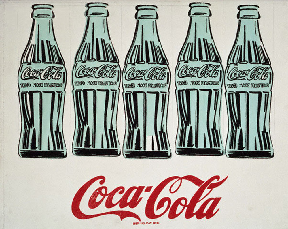 Andy Warhol     5 Coke Bottles