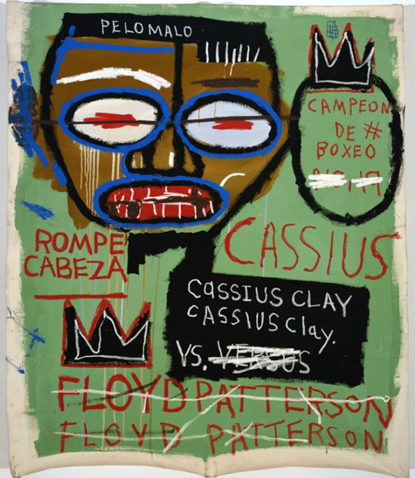 Jean-Michel Basquiat     Cassius Clay