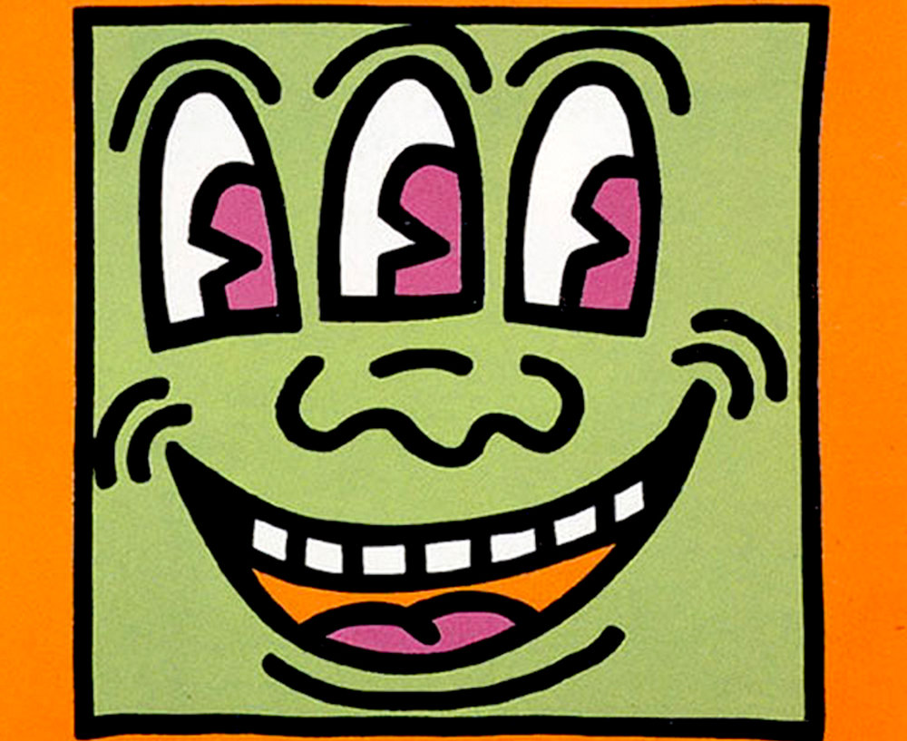Keith Haring     Three Eyed Monster