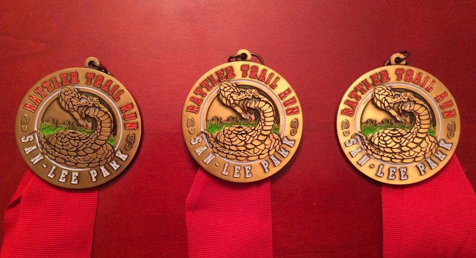 2015 Rattler Trail Run Finisher Medals