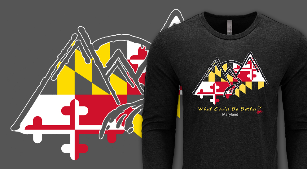 9a0ba98b4 Maryland Flag Long Sleeve - What Could Be Better? - WCBB?