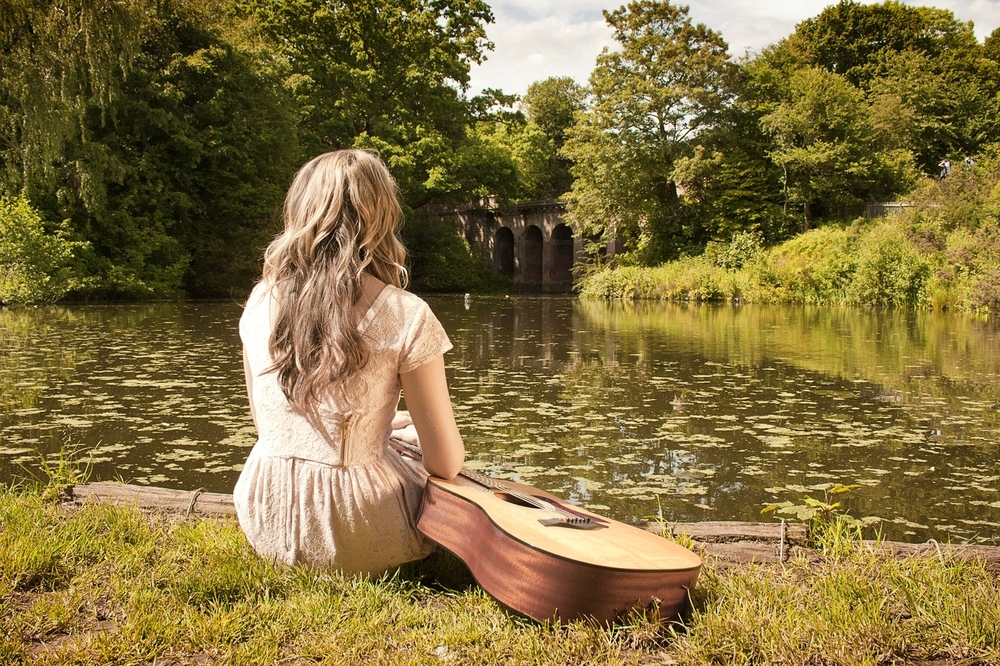 Beatie Wolfe at Hampstead ponds - London, UK