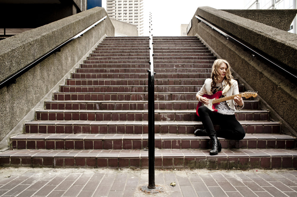 Beatie Wolfe visiting London's Barbican Centre