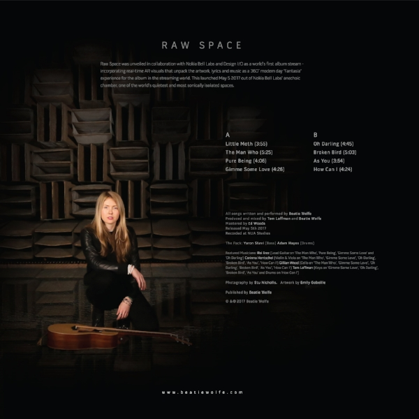 Raw Space by Beatie Wolfe Album Back