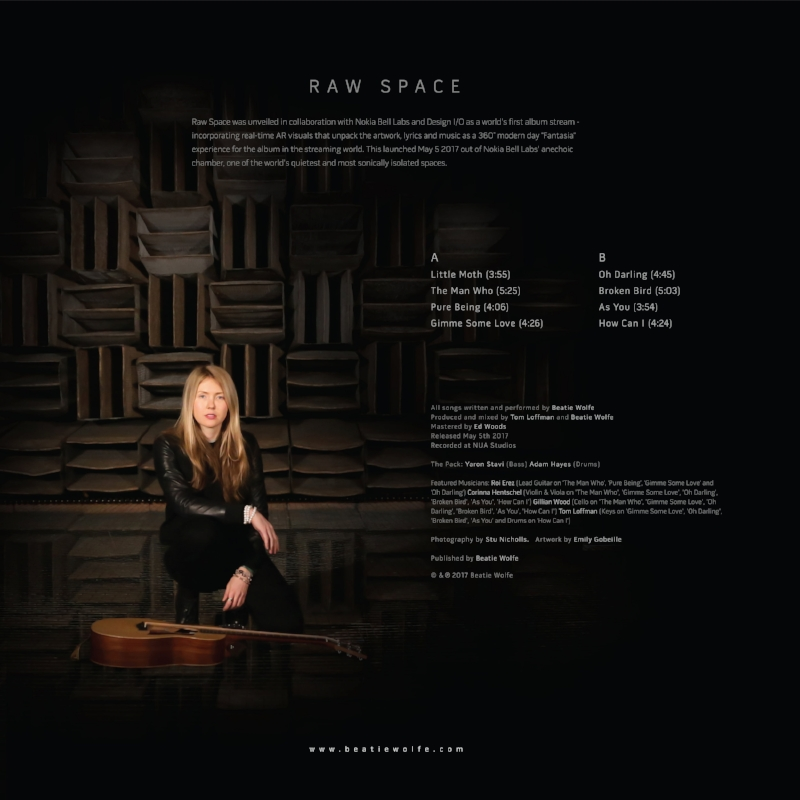 Raw Space by Beatie Wolfe (Album Artwork - Back)