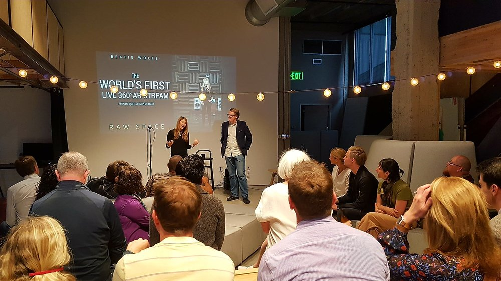 Beatie Wolfe at Airbnb HQ