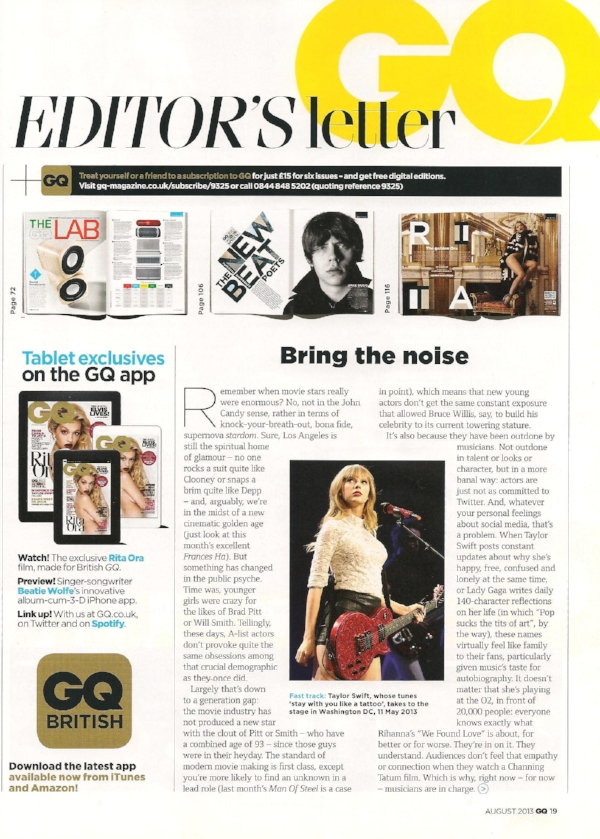 Including a GQ tablet exclusive - Featuring the below promo video and links to download the app