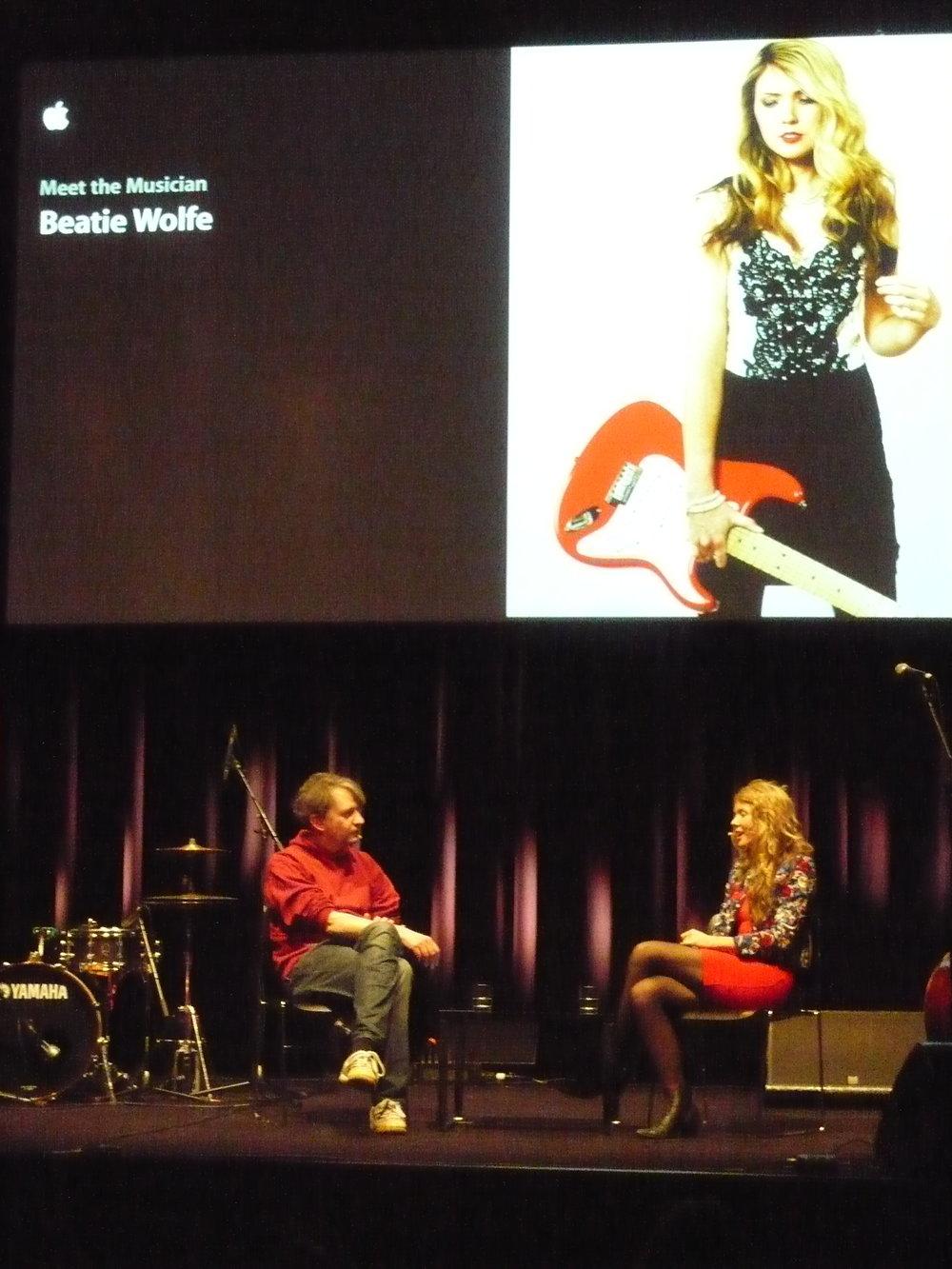 Beatie Wolfe and De:Bug's Editor Sacha Kösch