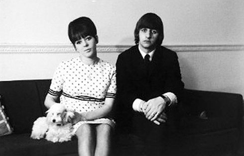 Ringo Starr and Maureen Cox in 34 Montagu Square.jpg