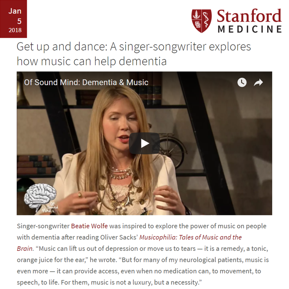 Instagram Stanford Medicine on Beatie Wolfe x Utley Foundation