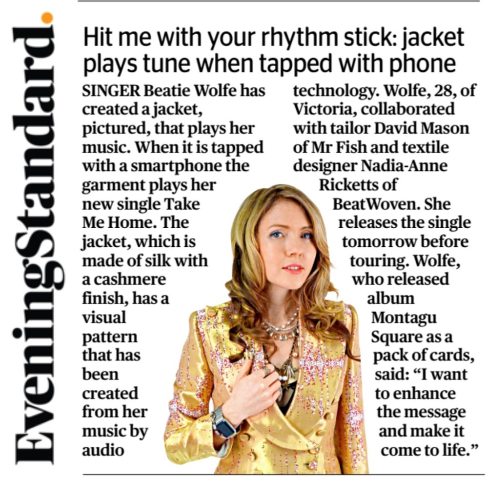 29JAN16 Evening Standard - Beatie Wolfe.jpg