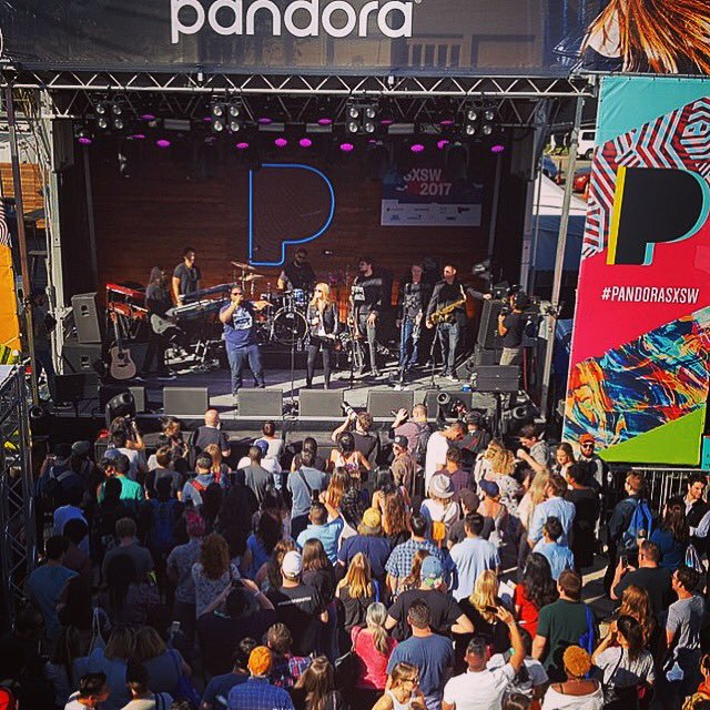 Beatie Wolfe on stage hosting Pandora's SXSW 2017.jpg