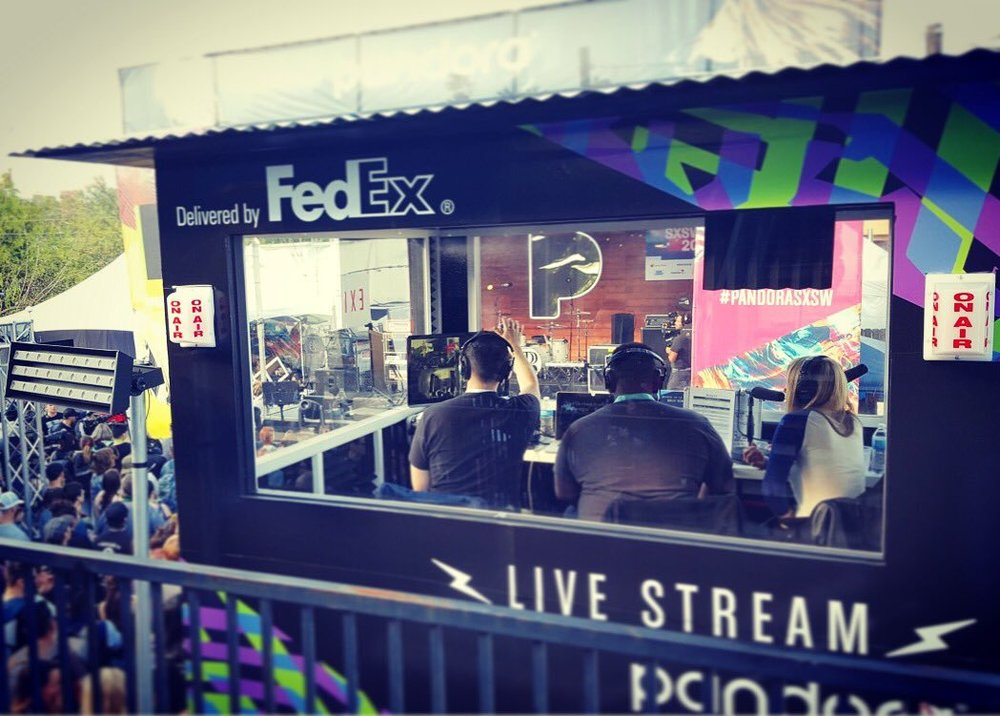 Testing the mic at pandoramusic SXSW ahead of day two hosting the livestream.jpg