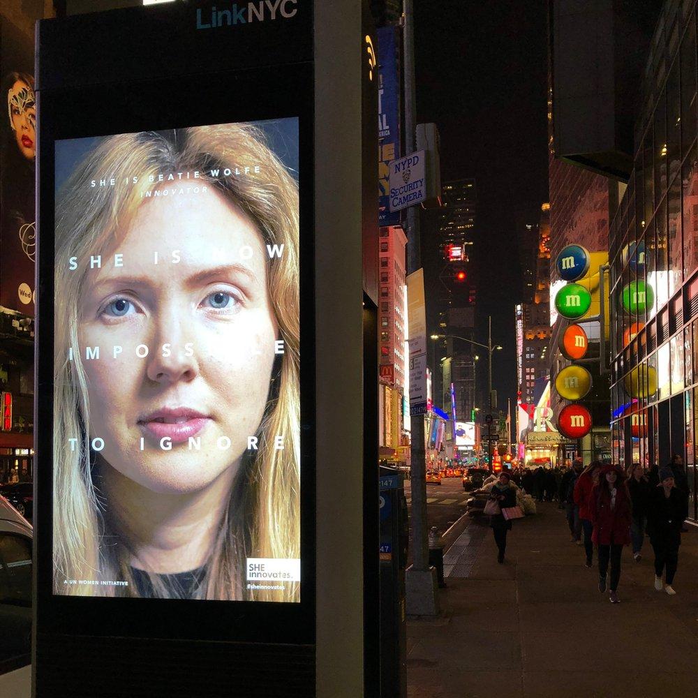 NYC 1 of 3500 spots in Manhatten ft Beatie Wolfe in UN campaign.JPG