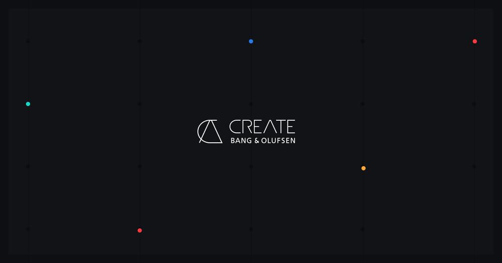 Bang & Olufsen CREATE - brand identity