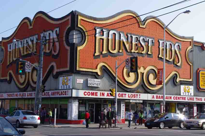 Shopping as theatre - Honest Ed's, Toronto. Photo by Ella Paremain