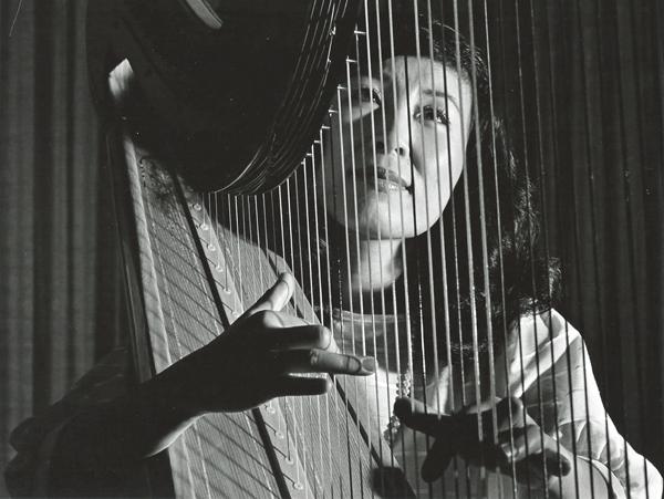"Front page of Hye-Yun's solo harp album, ""French Collection Harp"""