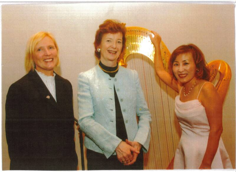 Old Dominion University President Roseann Runte, President of Ireland Mary Robinson