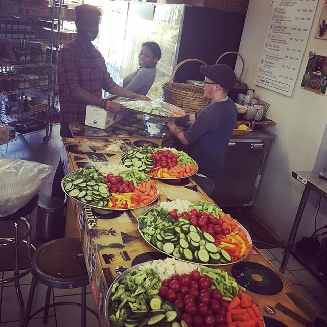 We cater! This is the beginning of a catering gig for 200 hungry people! Hit us up for your next event! #shoplocal #catering #theworkingworld