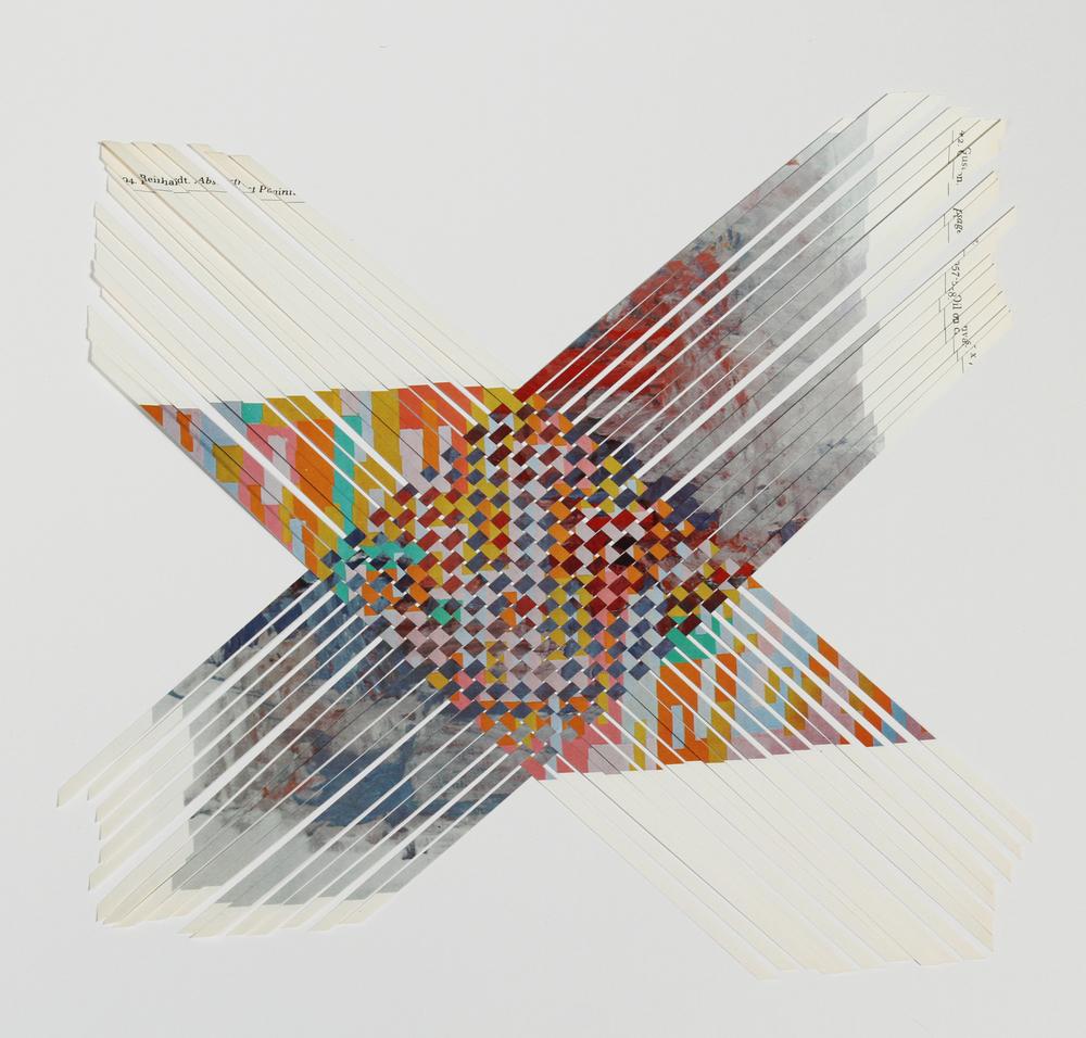 reinhardtguston, 2013, paper weaving, 14 x 14 in