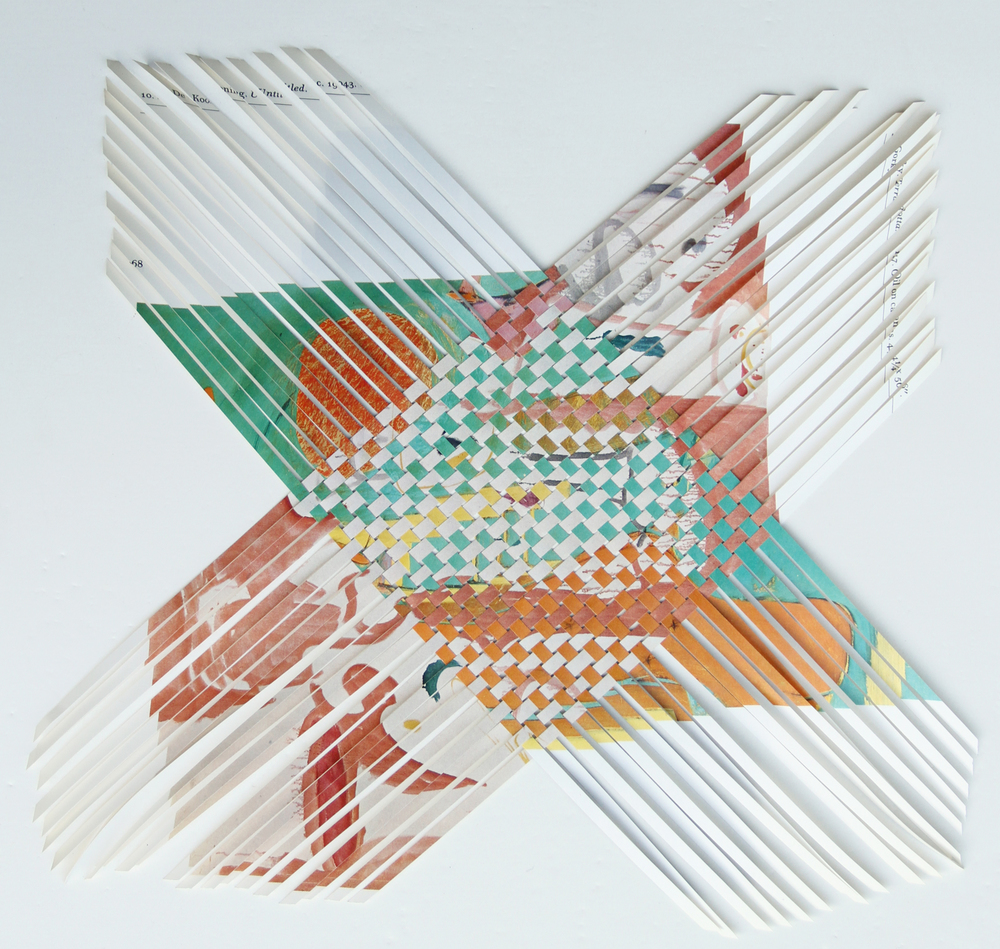 gorkydekooning, 2013, paper weaving, 10 x 10