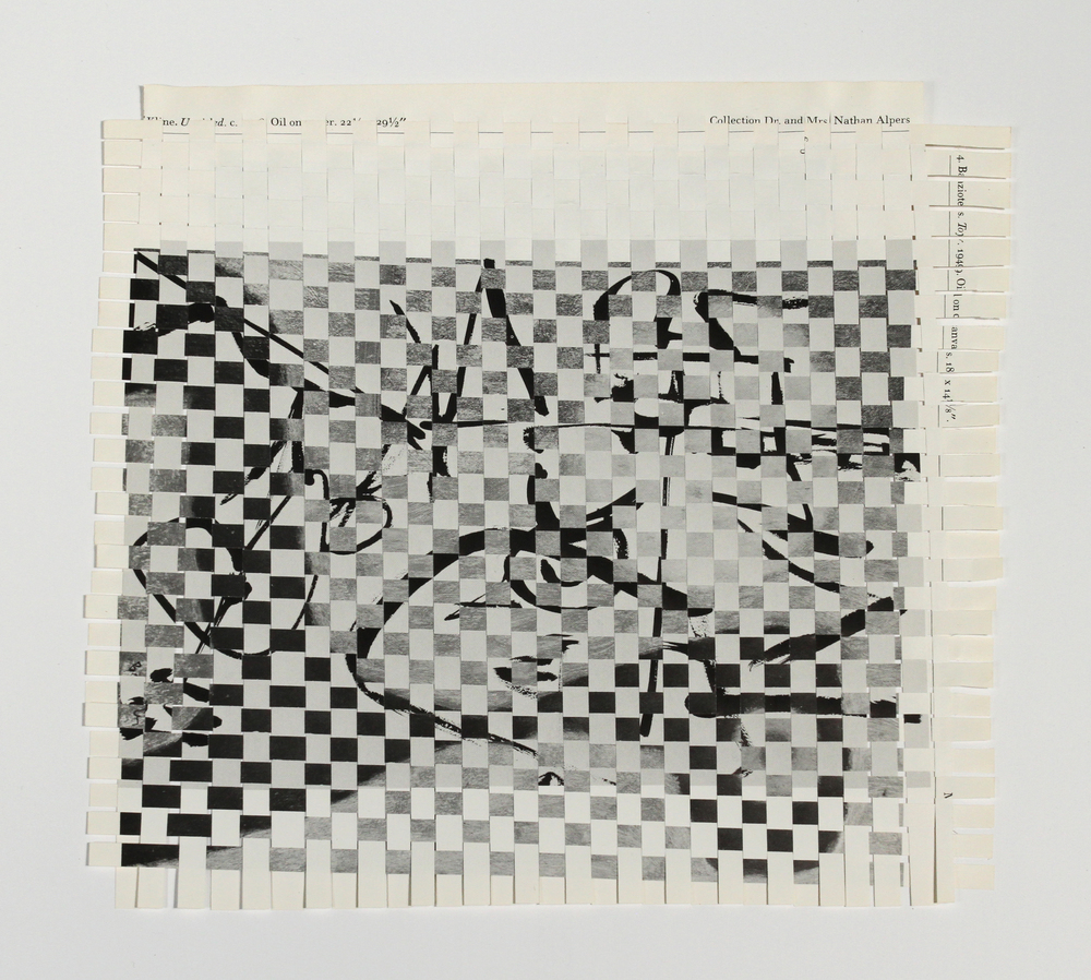 bazioteklein, 2013, paper weaving, 9 x 9