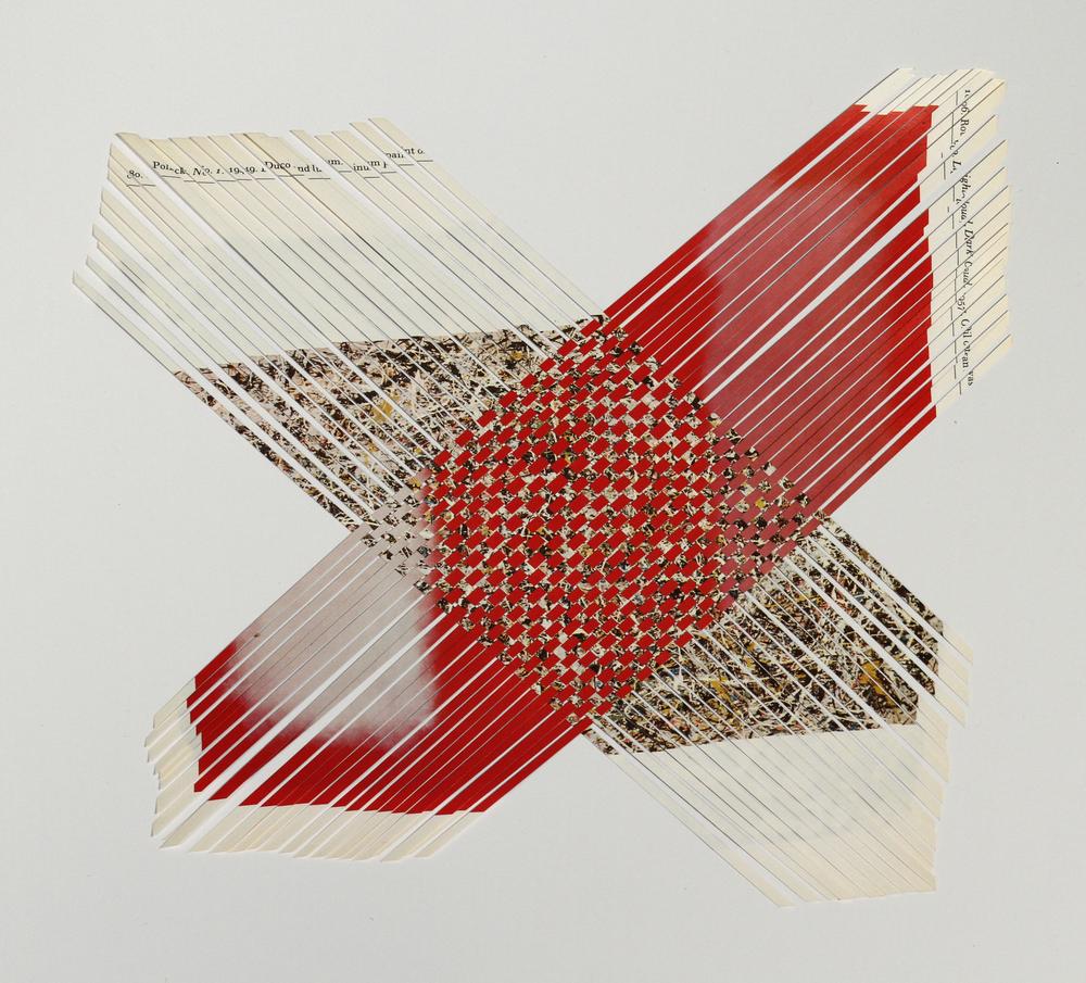 pollockrothko, 2013, paper weaving, 10 x 10