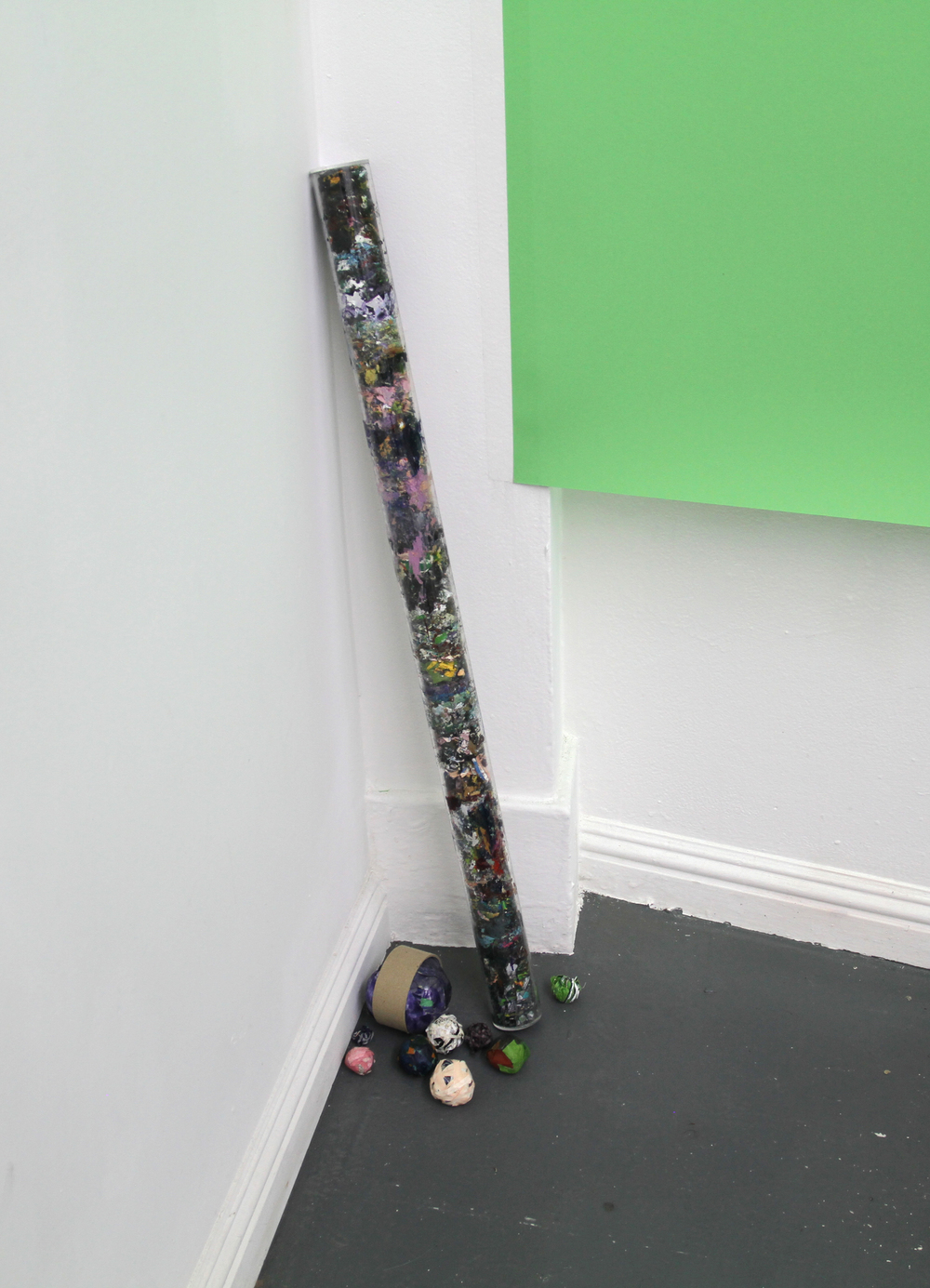 4 Years of Paint Scraps, Installation view.