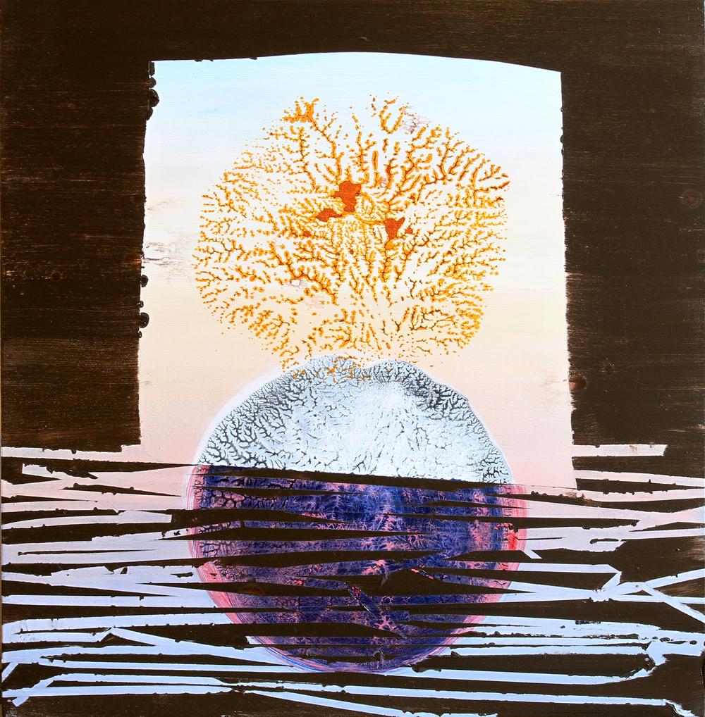 floe, 2012, acrylic on panel, 14 x 17