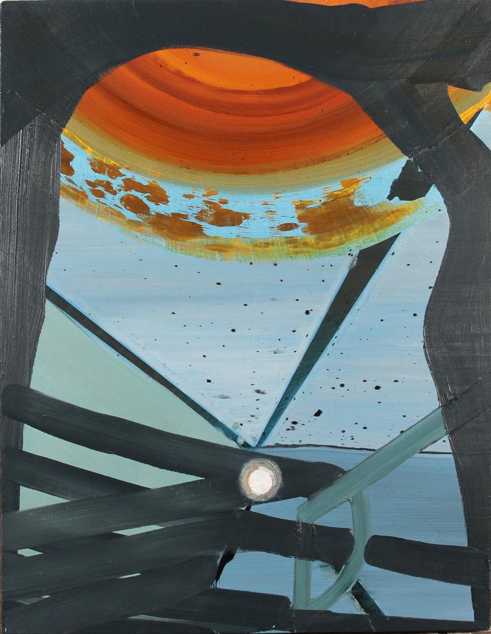arc, 2012, oil on panel, 13 x 16