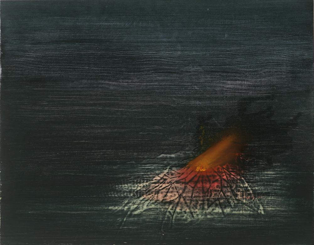 el tiempo me va matando (time is killing me), 2010, oil on panel, 26 x 20