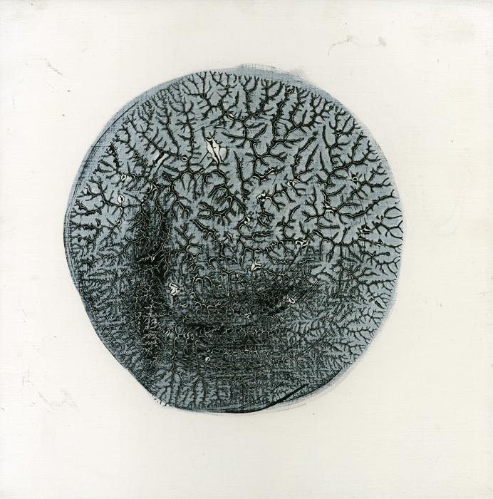 pensando (thinking), 2010, oil on panel, 10 x 9