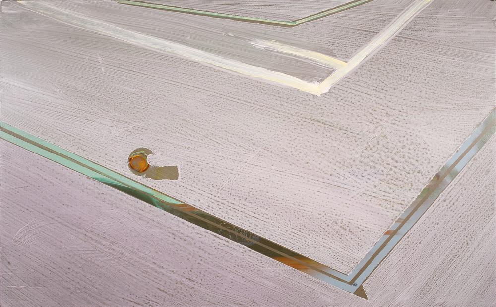 court, 2011, oil on panel, 16 x 12