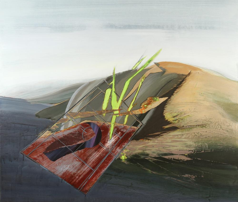 cuts, 2011, acrylic on panel, 48 x 36