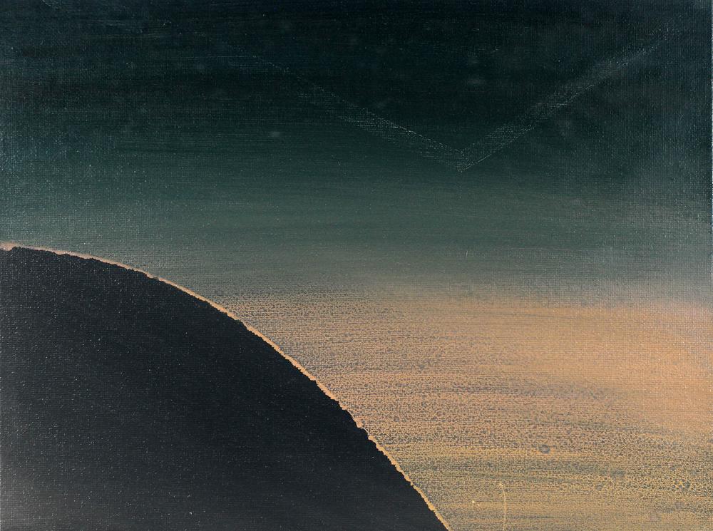 night, 2011, oil on canvas board, 11.5 x 8