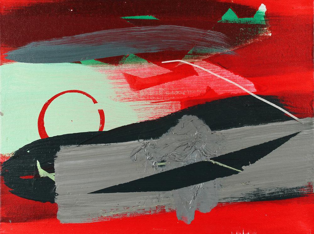 scuffed, 2011, acrylic on canvas board, 11.5 x 8