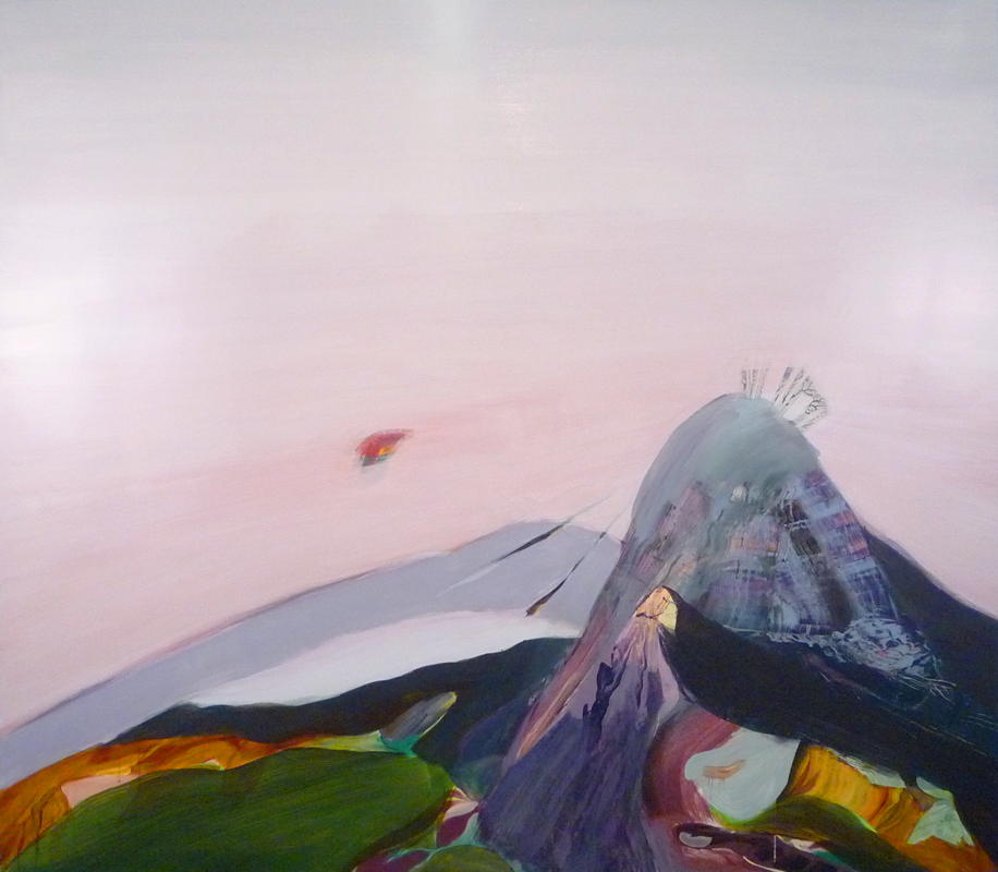 go quietly alone, 2008, acrylic on panel, 38 x 48