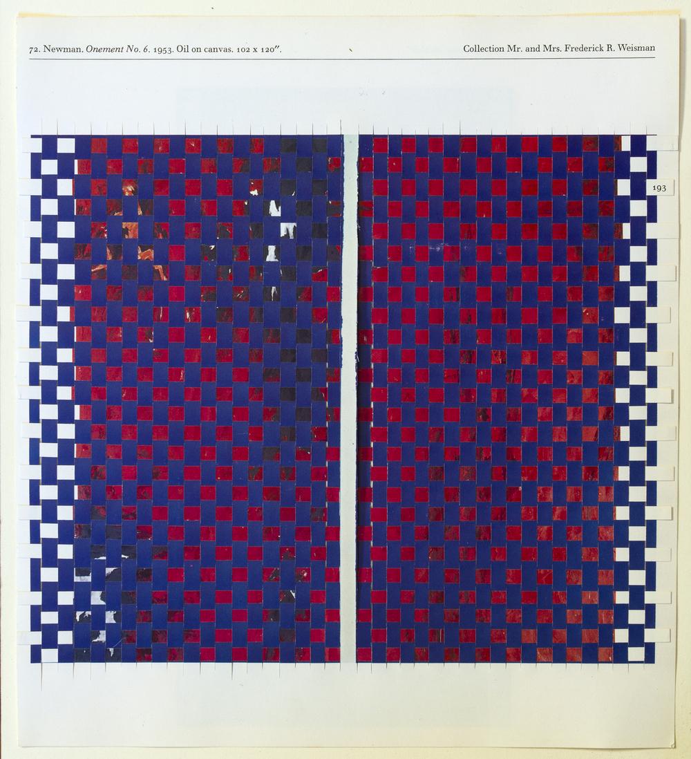 newmanstill, 2014, paper weaving, 8 x 9