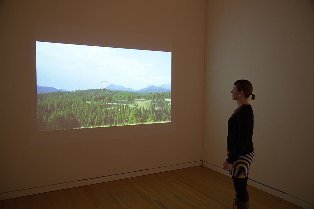 Oregon, Installation view, Art Gym Marylhurst University, 2013. Photo courtesy of Rebecca Najdowski