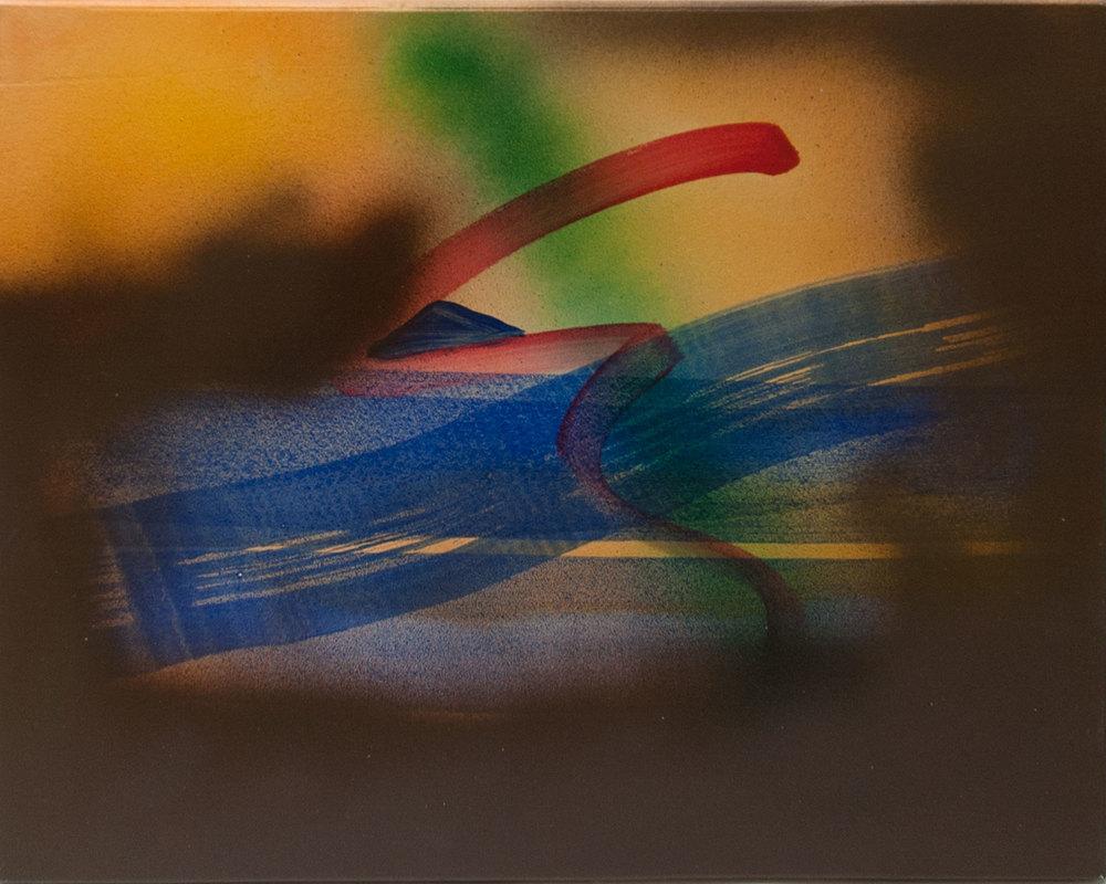 Untitled 2, 2015, acrylic on panel, 12 x 14.25