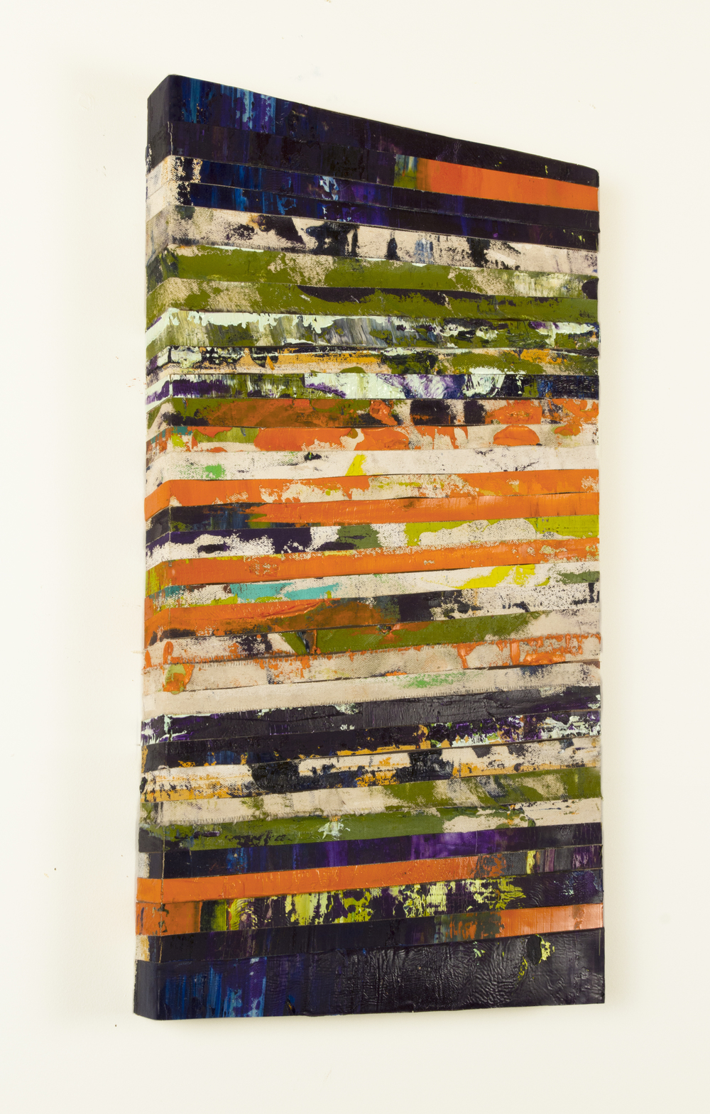 askew, 2015, oil on canvasstrips, 11.5 x 21.5