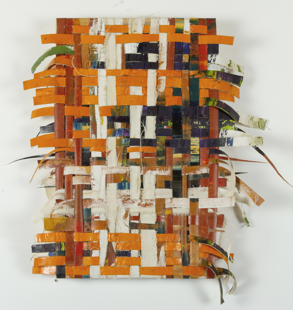 scrap weave, 2015, oil oncanvas strips, 10.5 x 18.5