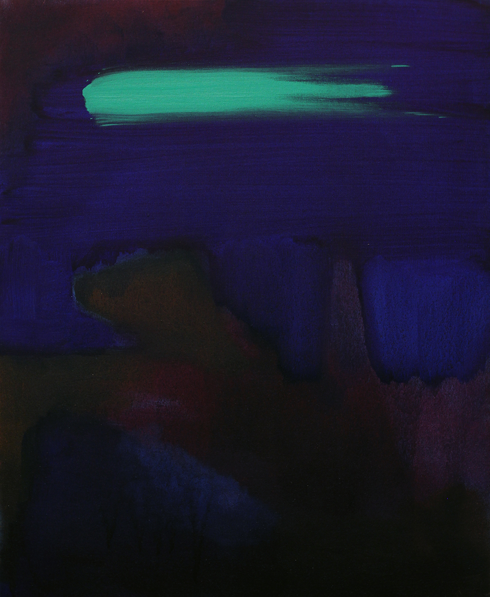Green streak, 2014, oil on canvas, 21 x 25.5