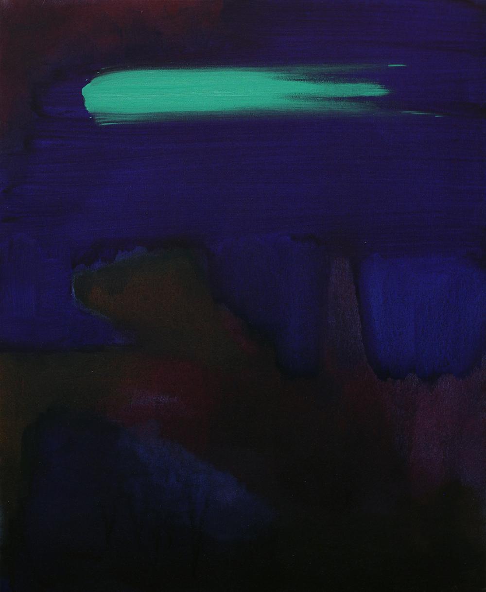 Green streak, 2014, oil on canvas, 21 x 25.5