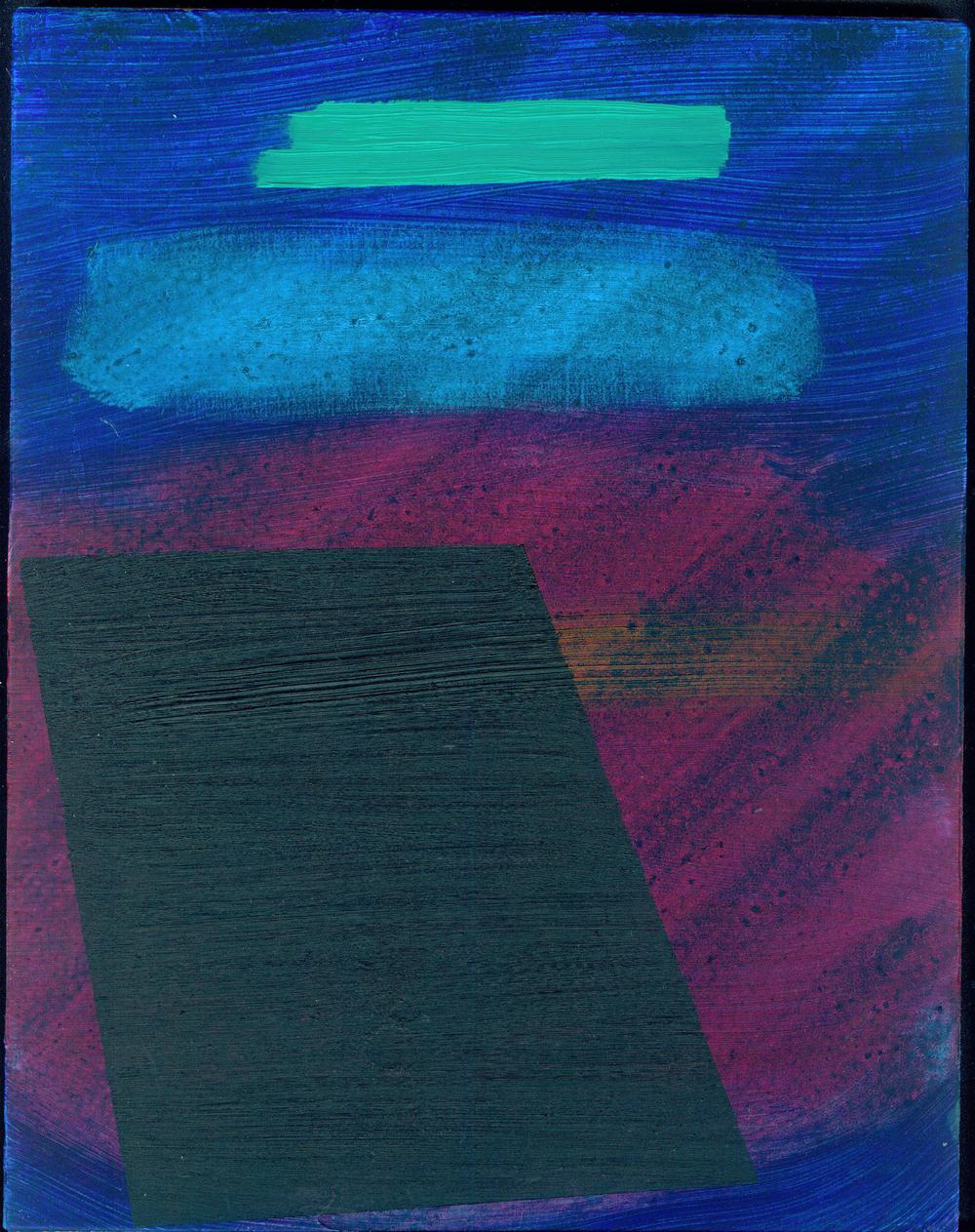 blueblackgreen, 2013, oil on panel, 10.25 x 8 in