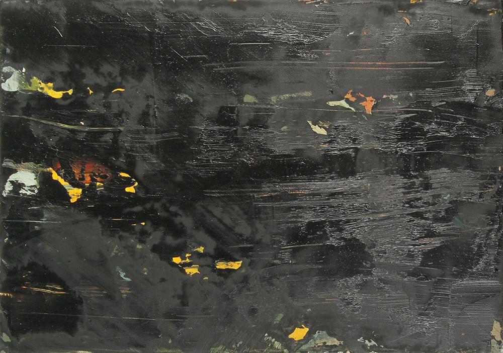 black, 2013, oil on panel, 10.5 x 15in