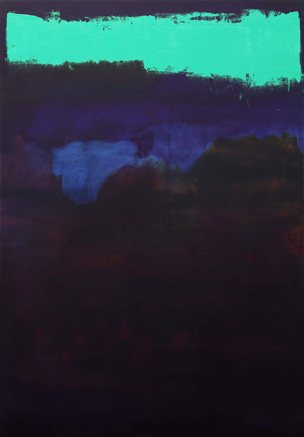 green smear, 2013, oil on canvas, 54 x 37.5 in