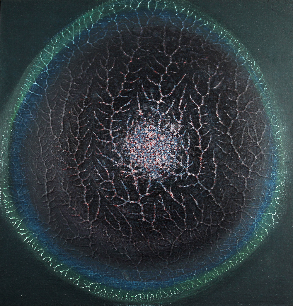 untitled 2, 2012, acrylic and oil on panel, 12 x 12